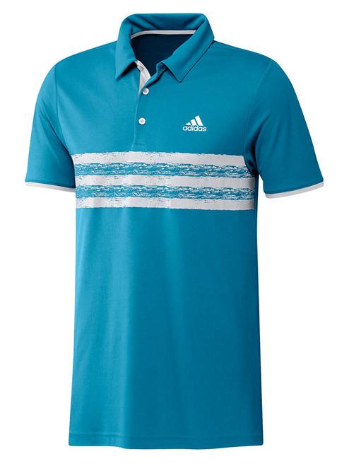 adidas Core Polo Shirt - Sonic Aqua/White