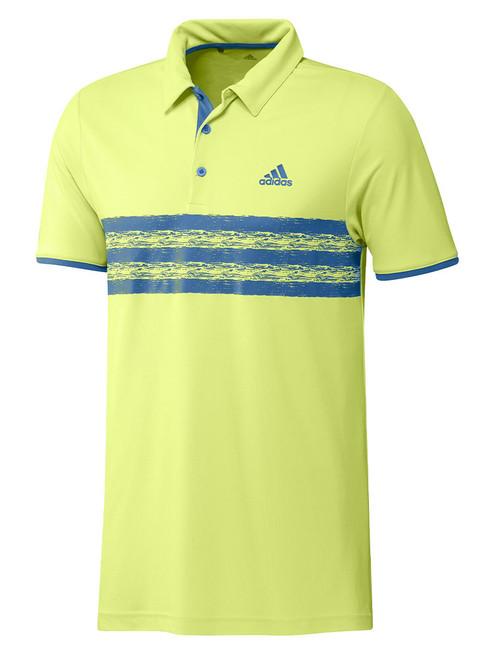 adidas Core Polo Shirt - Pulse Yellow/Focus Blue