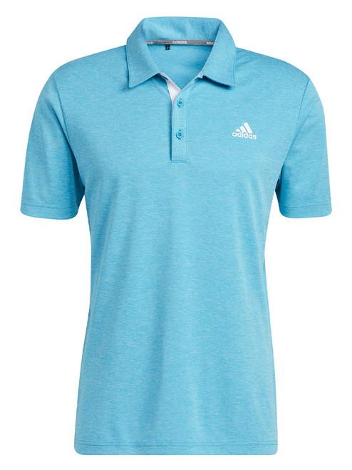 adidas Advantage Novelty Heathered Polo Shirt - Sonic Aqua Mel