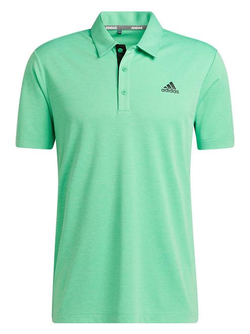 adidas Advantage Novelty Heathered Polo Shirt - Semi Screaming Green Mel.