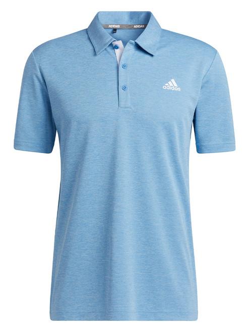 adidas Advantage Novelty Heathered Polo Shirt - Focus Blue Mel.