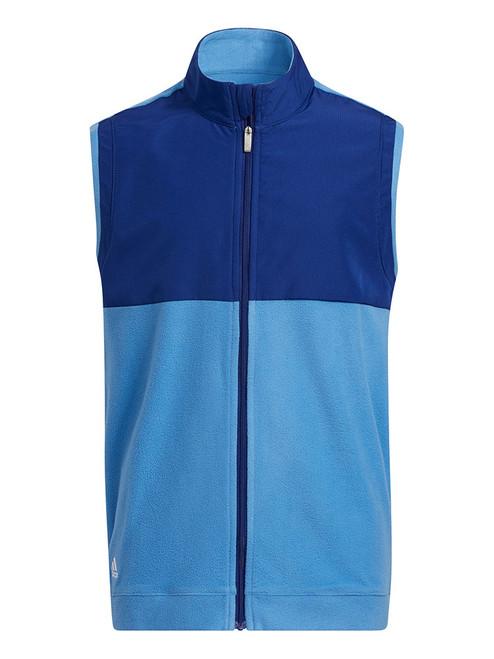 adidas JR Boys' Fleece Primegreen Vest - Victory Blue