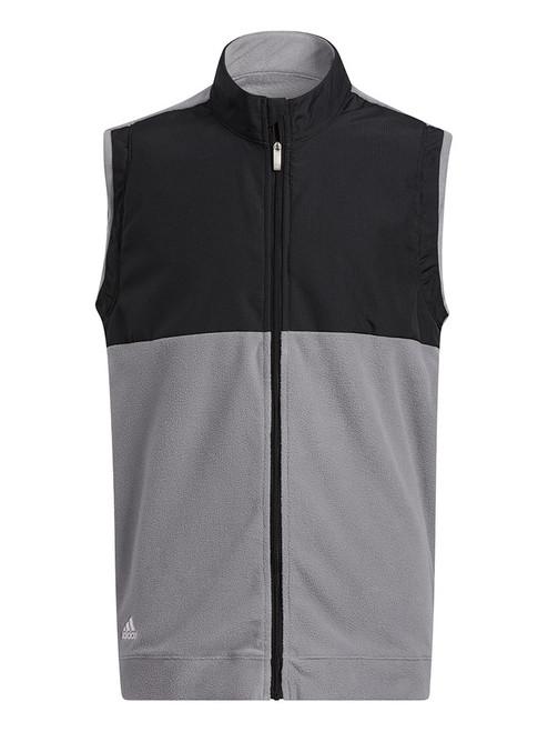 adidas JR Boys' Fleece Primegreen Vest - Black