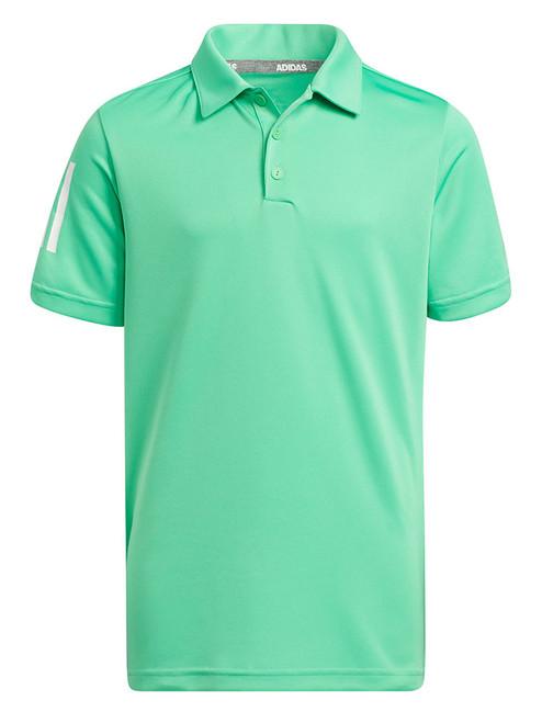 adidas JR Boys 3-Stripes Polo Shirt - Semi Screaming Green