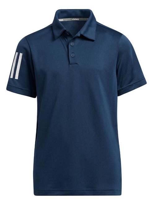 adidas JR Boys 3-Stripes Polo Shirt - Crew Navy