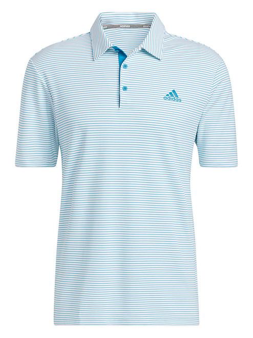 adidas 2-Colour Club Polo Shirt - White/Sonic Aqua