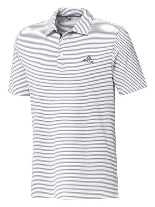 adidas 2-Colour Club Polo Shirt - White/Grey Three