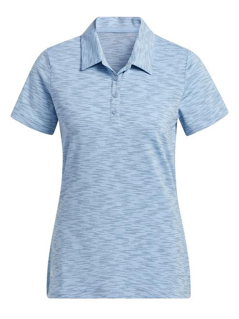 adidas W Space-Dye Primegreen Polo Shirt - Ambient Sky