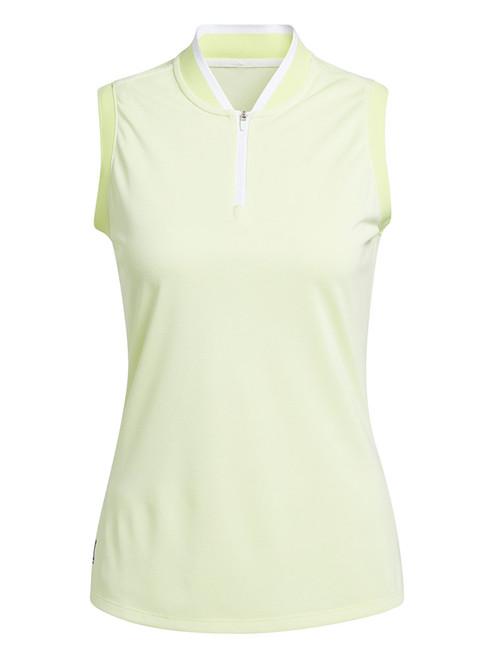 adidas W Equipment Primegreen Sleeveless Polo Shirt - Pulse Yellow