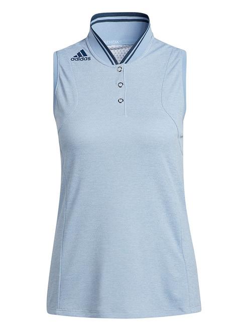 adidas W Sport Performance Primegreen HEAT.RDY Sleeveless Polo - Ambient Sky