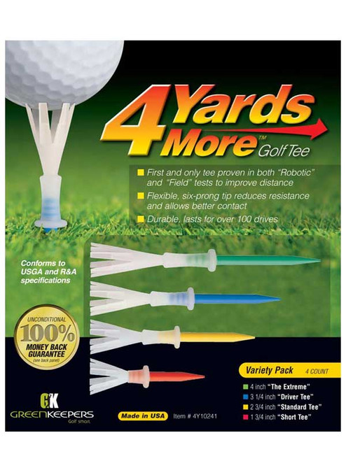 4YARDSMORE Golf Tees 4 Pack Variety Pack