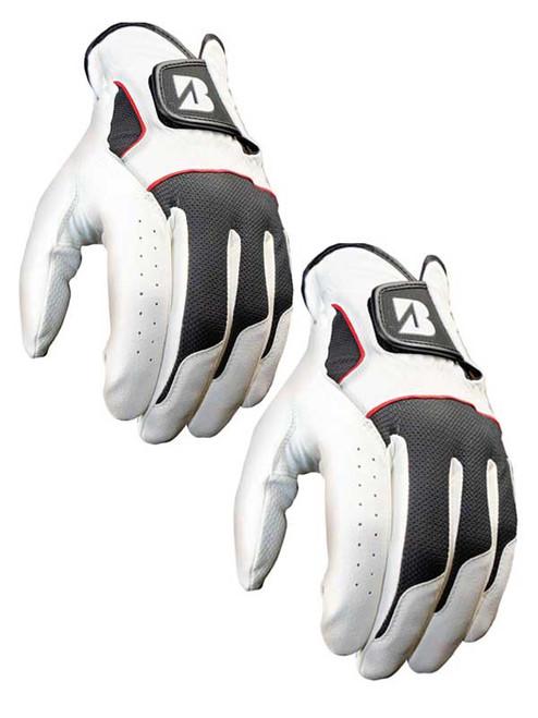Bridgestone xFIXx Pack Of 2 Golf Gloves White