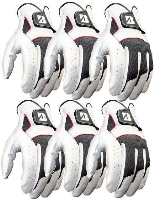 Bridgestone xFIXx Pack Of 6 Golf Gloves White