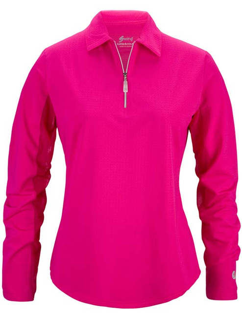 Bette & Court Ladies Cool Elements Swing Polo - Hot Pink