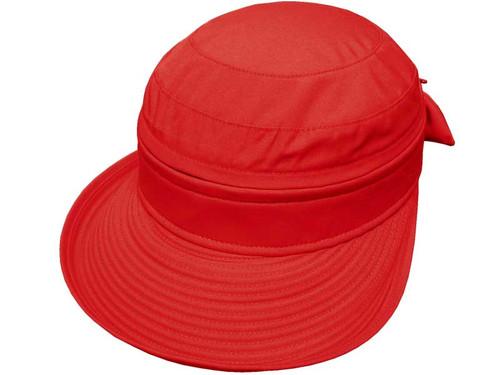 Poppi By Avenel Ladies Polycotton Visor Cap - Red