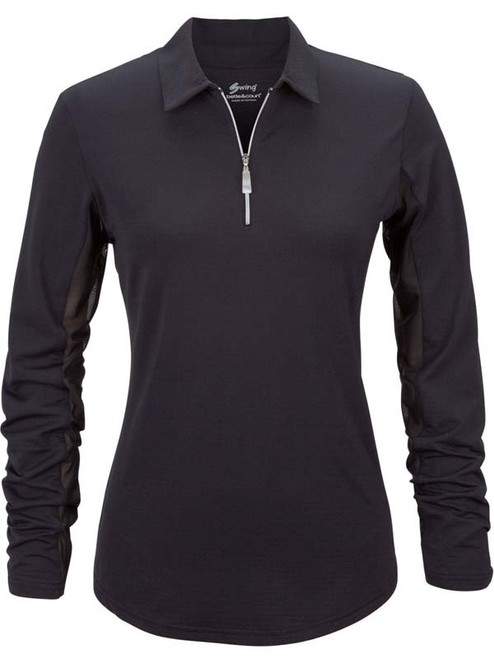 Bette & Court Ladies Cool Elements Swing Polo - Black