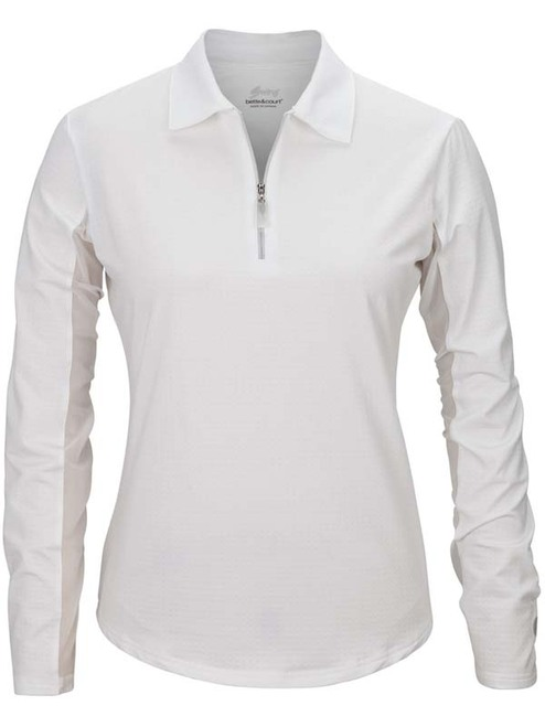 Bette & Court Ladies Cool Elements Swing Polo - White