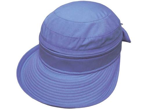 Avenel Ladies Polycotton Visor Cap - Sky Blue