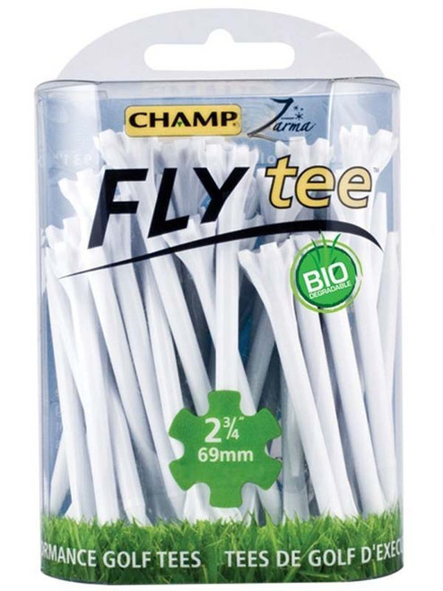 CHAMP Fly Tees 30 Pack 2.75 Inch White