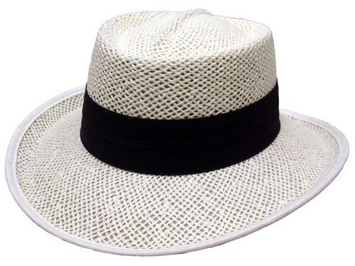 Avenel Openweave Downunder Panama Hat - White