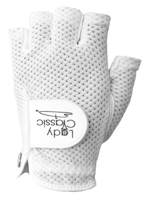 Lady Classic Ladies Half Glove - White