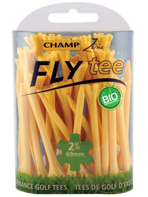 CHAMP Fly Tees 30 Pack 2.75 Inch Yellow