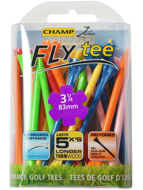 CHAMP Fly Tees 25 Pack 3.25 Inches Mixed