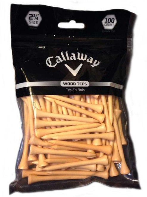 Callaway Wood Tees 100 Pack 2.75 Inch Natural