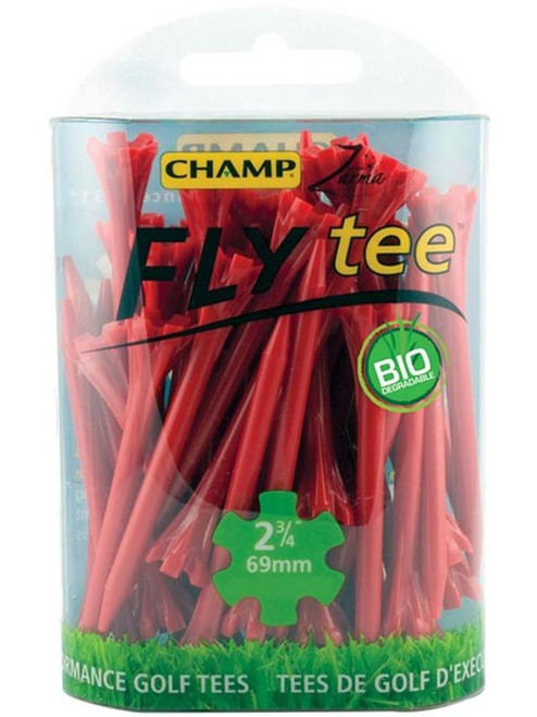 CHAMP Fly Tees 30 Pack 2.75 Inch Red
