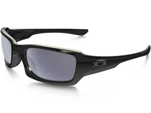 Oakley Fives Squared Sunglasses - Polished Black w/ Grey