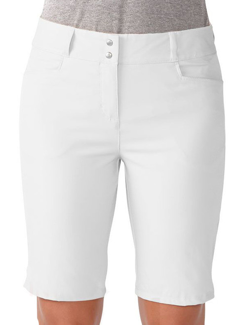 Adidas Ladies Essentials Lightweight Bermuda Short - White