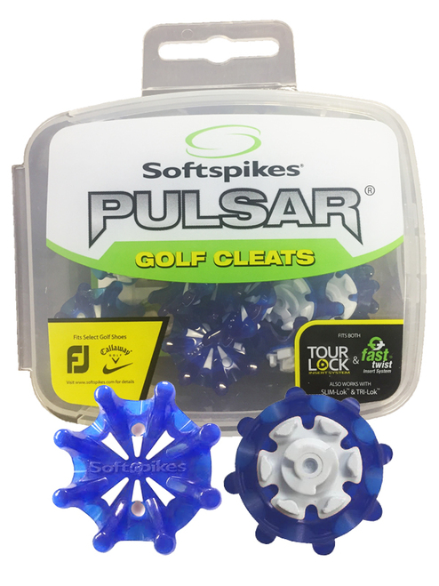 SoftSpikes Pulsar Golf Cleats Tour Lock Blue