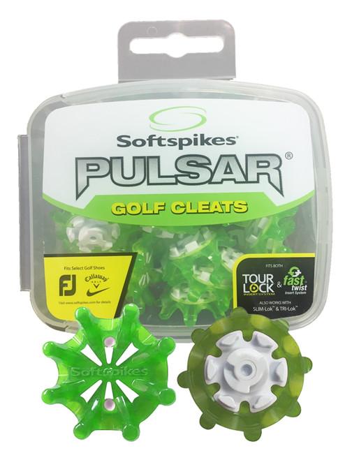 SoftSpikes Pulsar Golf Cleats Tour Lock Green