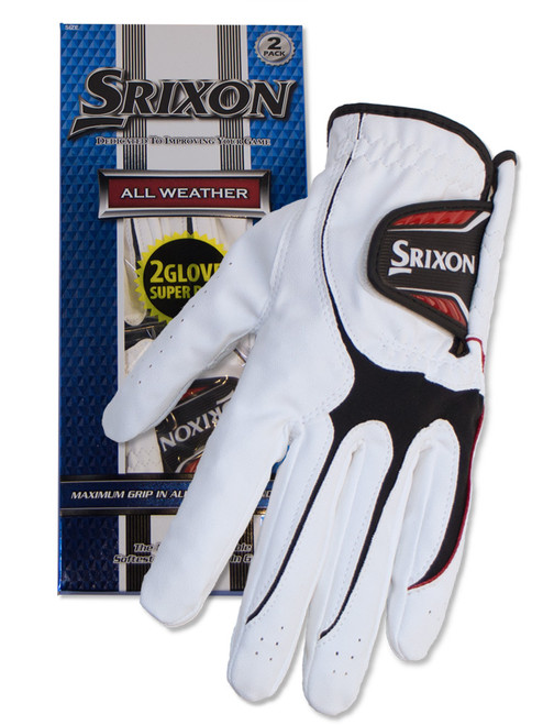 Srixon All Weather Ladies Pack Of 2 Golf Gloves - White