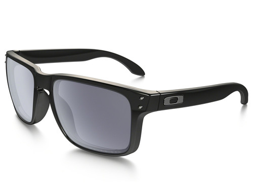 Oakley Holbrook Polarised - Polished Black w/ Grey Iridium