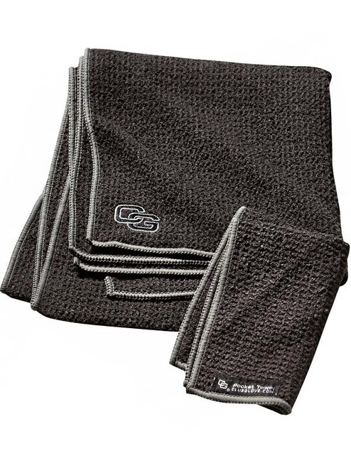 Club Glove Caddy Towel Black