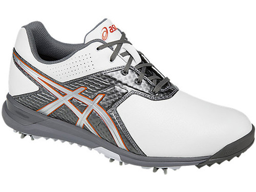 Asics Gel Ace Pro Tour 2 Golf Shoes - White/Titanium/Fiesta