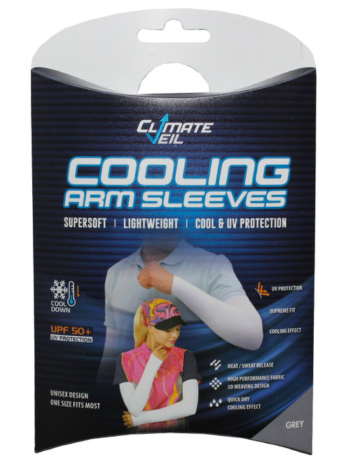 Climate Veil Cooling UV Arm Sleeve - Grey