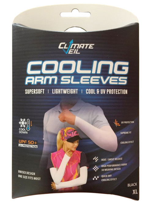 Climate Veil Cooling UV Arm Sleeve - Black
