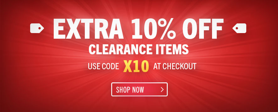 Save an extra 10% off clearance items - use code X10 at checkout. Clearance items only.