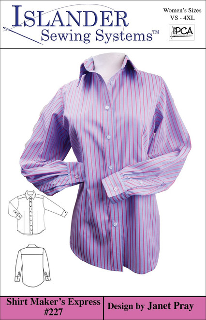 Women's Shirt Maker's Express Downloadable VS-XL