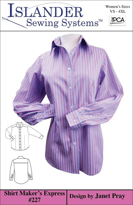 Women's Shirt Maker's Express Downloadable VS-XL