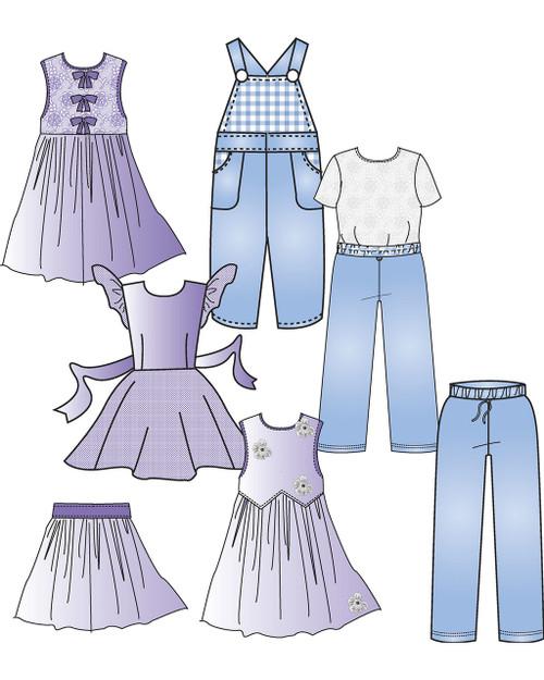 A-CS Children's Pants & Skirt Block (3-6x)