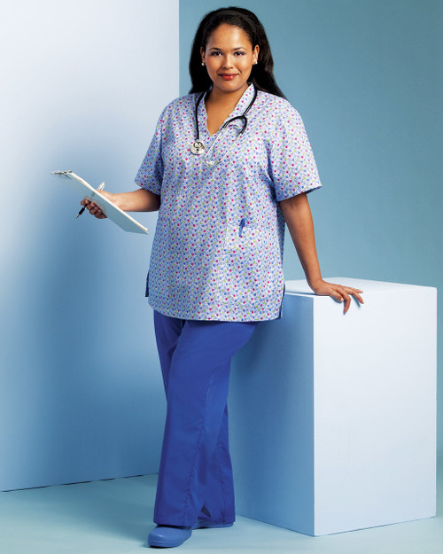 Scrub Top and Elastic Waist Pant (B5301) 3 for $9