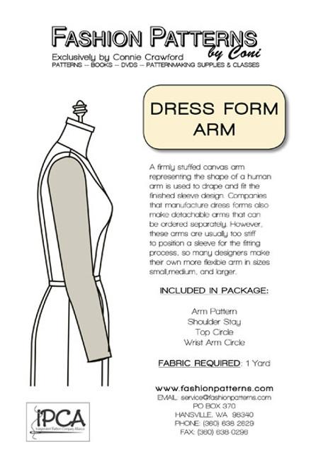 Dress Form Arm Pattern