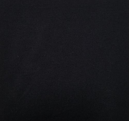 Knit Ponte: Rich Black Italian Ponte, $12.50 per half yard