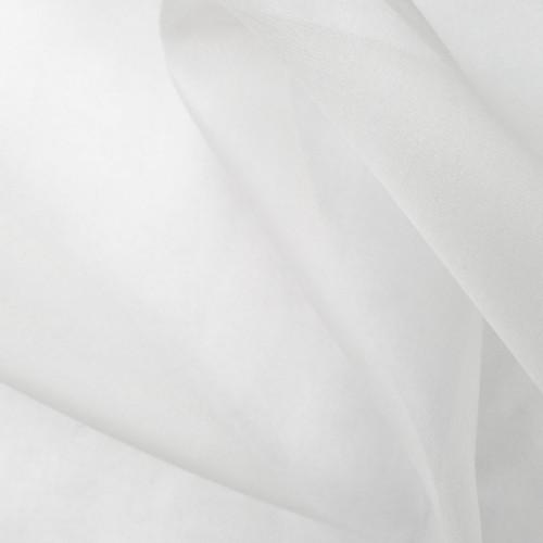 ZZC: Silk Organza (dyed white), $5.50 per half yard