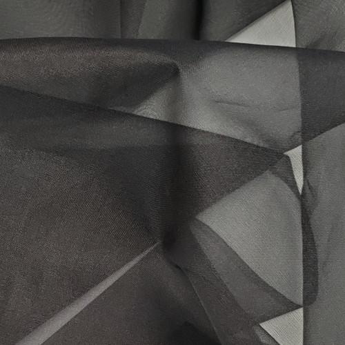Silk Organza, Black, 5.50 per half yard