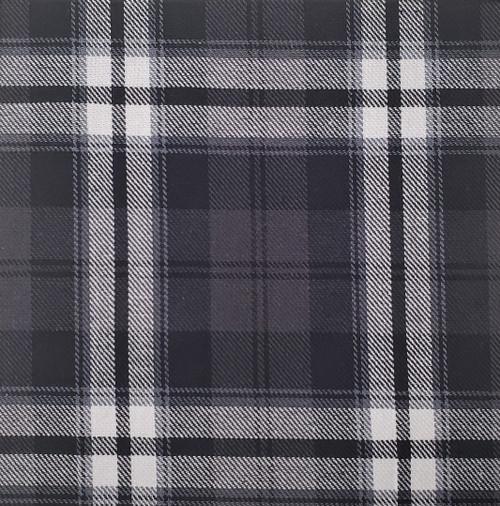 "P5: Black and White Plaid Brushed Twill, 100% Cotton Shirting, 60"" wide. $9.99 per half yard."