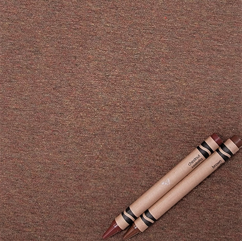 Knit H: Chestnut, Heather Jersey, 92% Rayon 8% Spandex, $9.50 per half yard. Made in the USA!